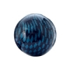 Checker Beads Round 22mm Aqua/black